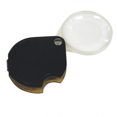 SCHWEIZER 3.5X/10D Black Round Pocket Magnifier
