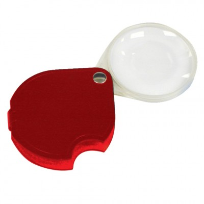 SCHWEIZER 3.5X/10D Red Round Pocket Magnifier