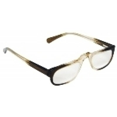 Optelec +7.00 OU Prismatic PowerSpecs with 45mm Half-Eye Brown Fade Zyl Frame