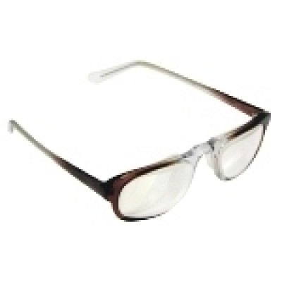 Optelec +7.00 OU Prismatic PowerSpecs with 49mm Half-Eye Brown Fade Zyl Frame