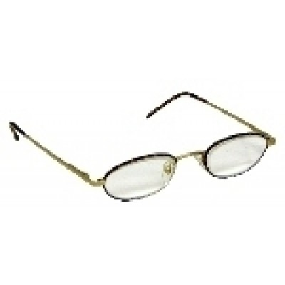 Optelec +6.00 OU Thin Prismatic PowerSpecs with 44mm Half-Eye Metal Tortoise Frame
