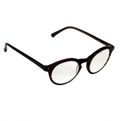 Optelec +8.00 OU Prismatic PowerSpecs with 44mm Full-Eye Brown Zyl Frame