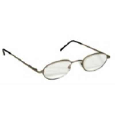 Optelec +6.00 OU Thin Prismatic PowerSpecs with 47mm Half-Eye Metal Pewter Frame