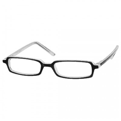 Optelec +6.00 OU Thin Prismatic AR Coated PowerSpecs with 47mm Black/Crystal Frame