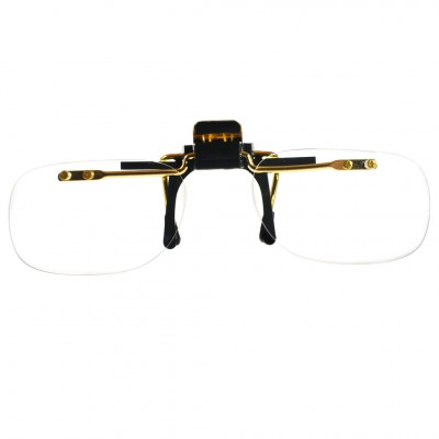 Optelec +1.00D PowerClip Top Half Frame Clip-On Magnifier