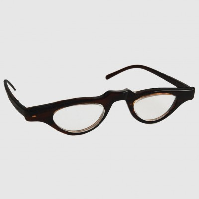 optelec 700 ou prismatic powerspecs with 40mm half eye brown zyl frame - Zyl Frames