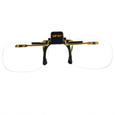 Optelec +2.00D PowerClip Top Half Frame Clip-On Magnifier